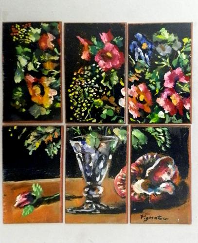 Art work by Luigi Pignataro Composizione - oil table