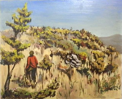 Quadro di F. Vannoni Poggetto - Pittori contemporanei galleria Firenze Art