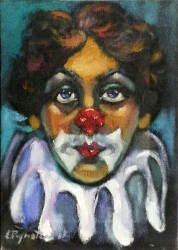 Art work by Luigi Pignataro Pagliaccio - oil canvas
