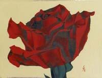 Quadro di Paolo Lenti - Rosa rossa olio tavola