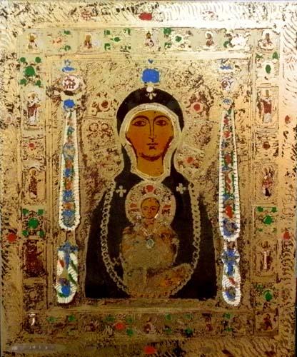 Quadro di  Anonimo Icona sacra - mista metallo