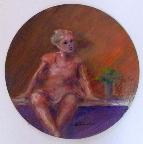 Quadro di Umberto Bianchini Figurina - Pittori contemporanei galleria Firenze Art