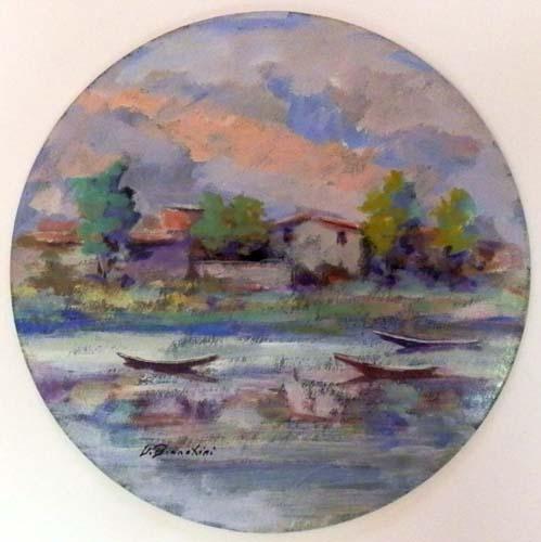 Quadro di Umberto Bianchini Paesaggio - mista cartone