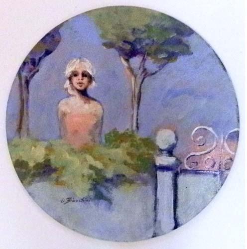 Quadro di Umberto Bianchini Giardino - Pittori contemporanei galleria Firenze Art