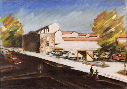 Quadro di Carlo Giannitrapani Paesaggio urbano - olio faesite