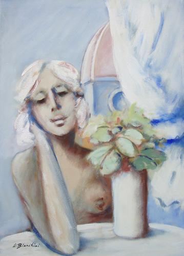 Art work by Umberto Bianchini Balcone - oil canvas