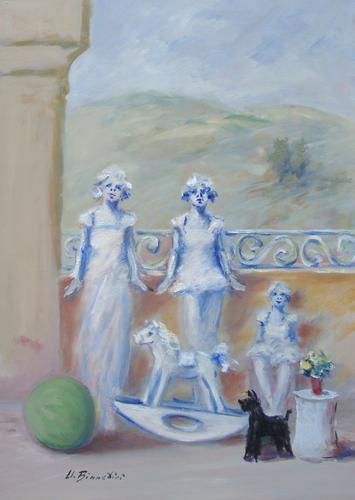 Quadro di Umberto Bianchini Giochi innocenti - olio tela