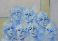 Quadro di Umberto Bianchini  Armonia blu