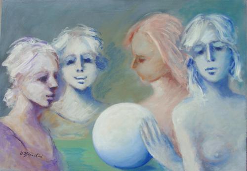 Quadro di Umberto Bianchini La maga - olio tela