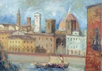 Quadro di Emanuele Cappello  Lungarno fiorentino