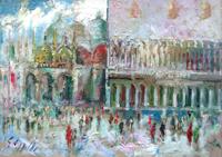 Quadro di Emanuele Cappello  San Marco e Palazzo Ducale a Venezia