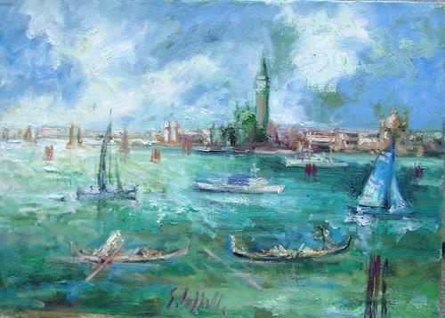Art work by Emanuele Cappello Laguna veneziana - oil canvas