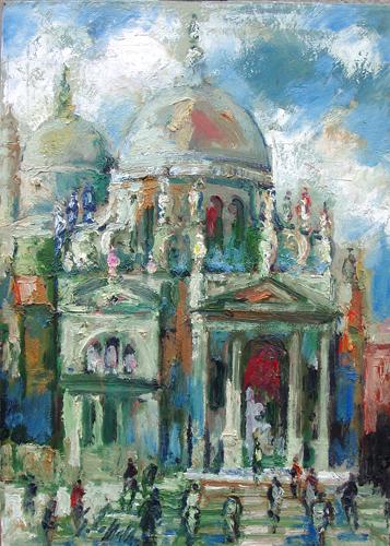 Quadro di Emanuele Cappello Venezia , olio su tela 60 x 50 | FirenzeArt Galleria d'arte