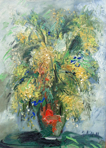 Art work by Emanuele Cappello Mimose - oil canvas