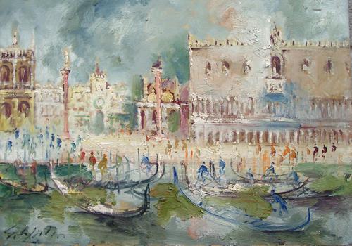 Quadro di Emanuele Cappello Laguna Veneziana - olio tela
