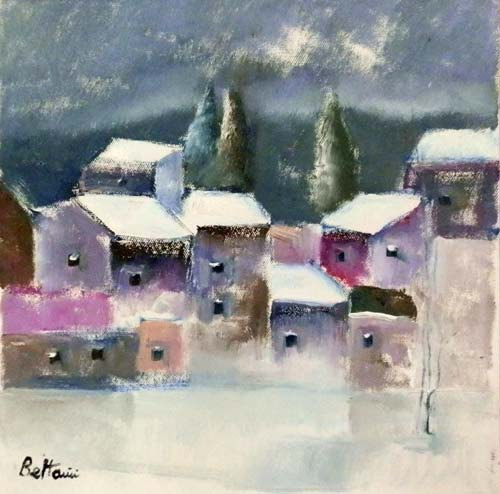 Quadro di Lido Bettarini Nevicata - Pittori contemporanei galleria Firenze Art