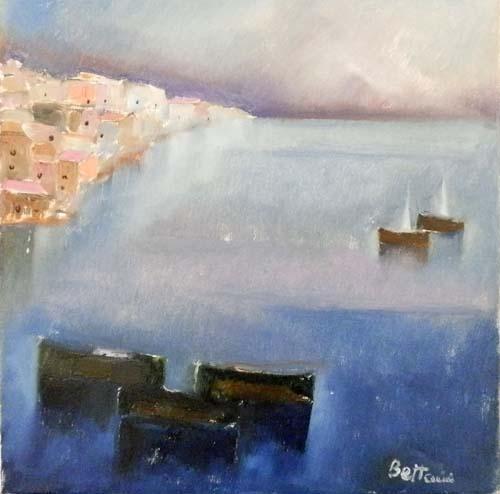 Quadro di Lido Bettarini Marina - olio tela