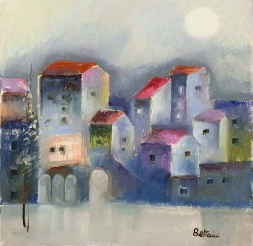 Art work by Lido Bettarini Case - oil canvas