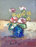Work of Sergio Scatizzi - Vaso di fiori oil table