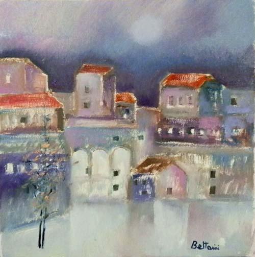 Lido Bettarini - Paesaggio con case