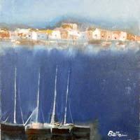 Quadro di Lido Bettarini  Marina con barche