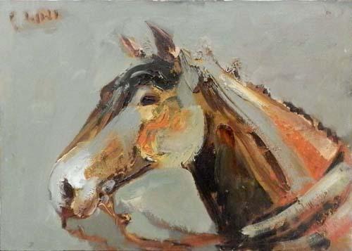 Quadro di Emanuele Cappello Cavallo - olio tela