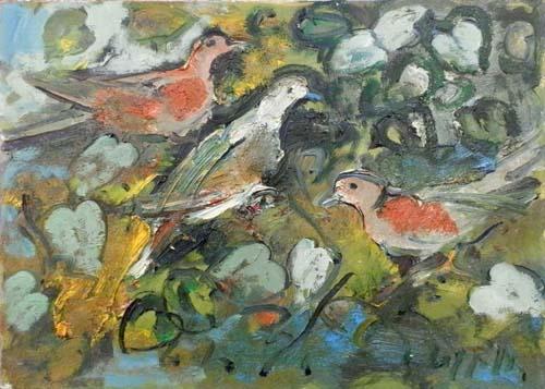 Art work by Emanuele Cappello La danza dell'amore - oil canvas