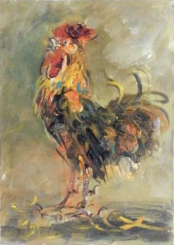 Quadro di Emanuele Cappello Il Gallo - olio tela