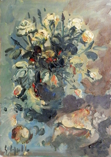 Art work by Emanuele Cappello Vaso di fiori - oil canvas