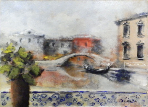 Quadro di Umberto Bianchini Veduta Veneziana - olio tela
