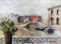 Quadro di Umberto Bianchini  Veduta Veneziana