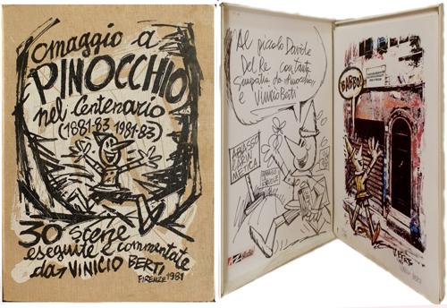 Quadro di Vinicio Berti Omaggio a Pinocchio nel centenario - litografia carta
