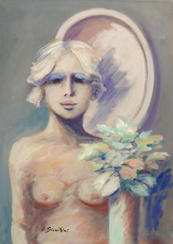 Quadro di Umberto Bianchini Giulia - olio tela