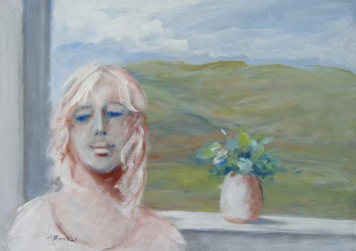 Art work by Umberto Bianchini Balcone - mixed canvas