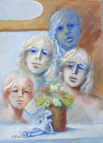 Art work by Umberto Bianchini Voglia di infanzia - oil canvas