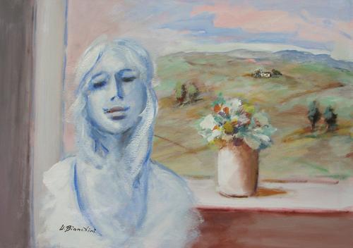 Quadro di Umberto Bianchini Balcone - mista tela