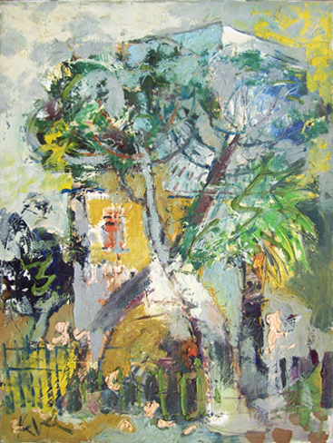 Quadro di  Kapel (Cappello) Tra gli alberi - Pittori contemporanei galleria Firenze Art