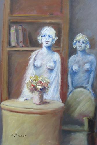 Art work by Umberto Bianchini Interno - mixed canvas