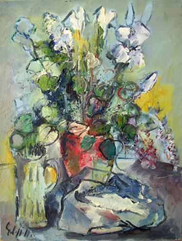 Quadro di Emanuele Cappello Fiori, olio su tela 80 x 60 | FirenzeArt Galleria d'arte
