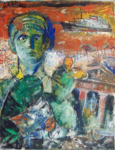 Art work by Emanuele Cappello Composizione figurativa - oil canvas