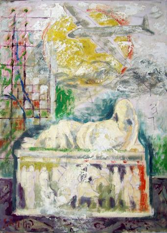 Quadro di Emanuele Cappello Storia e modernità - Pittori contemporanei galleria Firenze Art