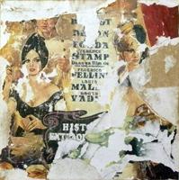 Quadro di Andrea Tirinnanzi - Omaggio a Fellini decollage tavola