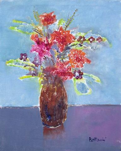 Art work by Lido Bettarini Vaso di fiori - oil canvas