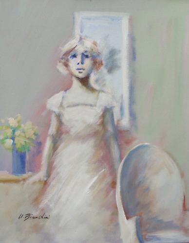 Quadro di Umberto Bianchini Figurina - mista tela