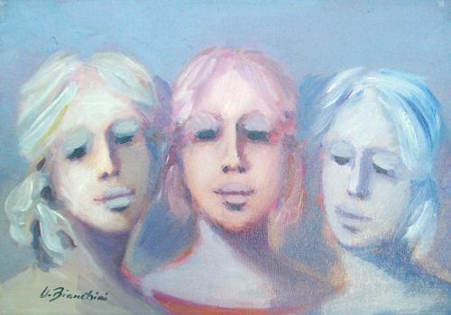 Quadro di Umberto Bianchini Trio - olio tela