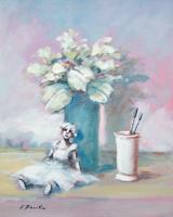 Quadro di Umberto Bianchini  Composizione con fiore