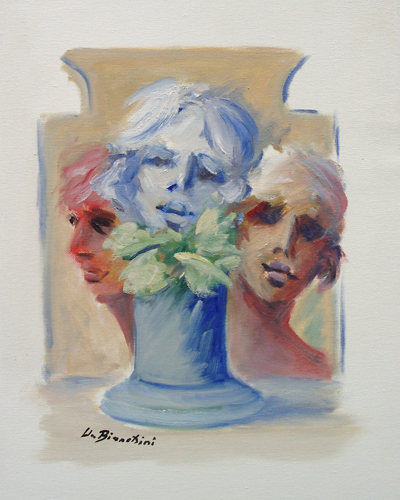 Art work by Umberto Bianchini Composizione - oil canvas