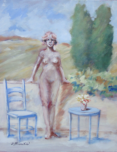 Quadro di Umberto Bianchini Terrazzo - mista tela
