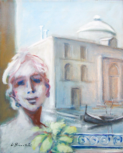Art work by Umberto Bianchini Veduta veneziana - mixed canvas