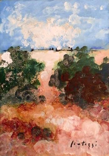 Quadro di Sergio Scatizzi Paesaggio - Pittori contemporanei galleria Firenze Art